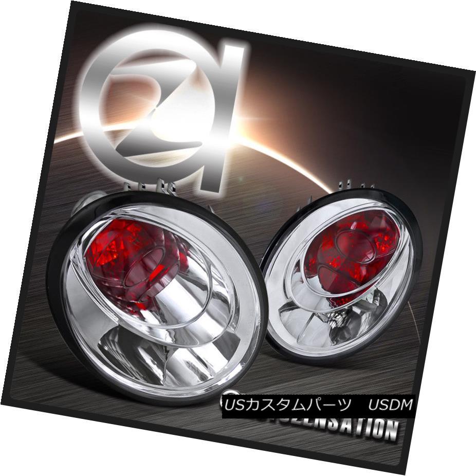 テールライト For 98-05 VW Beetle Euro Chrome Clear Rear Tail Brake Lights Stop Lamps 98-05 VWビートルユーロクロムクリアリアテールブレーキライトストップランプ
