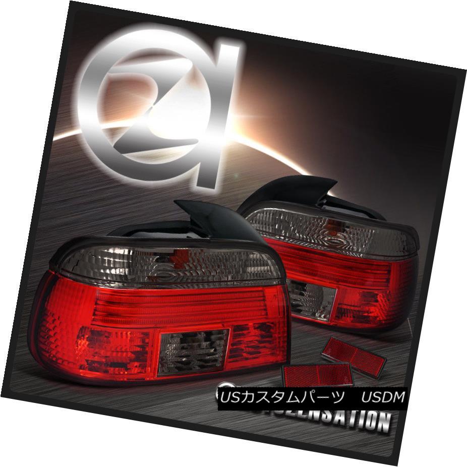 テールライト BMW 97-00 E39 5-Series 525 530 540 Red Smoked Rear Tail Lights BMW 97-00 E39 5シリーズ525 530 540赤いスモークリアテールライト