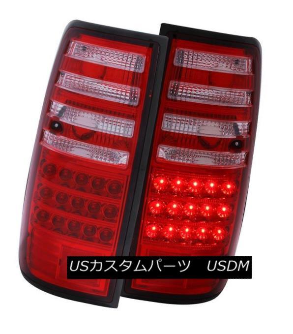 テールライト ANZO 311095 Set of 2 Red/Clear LED Tail Lights for 91-97 Toyota Land Cruiser ANZO 311095 91-97トヨタランドクルーザー用赤色/クリアLEDテールライト2個セット