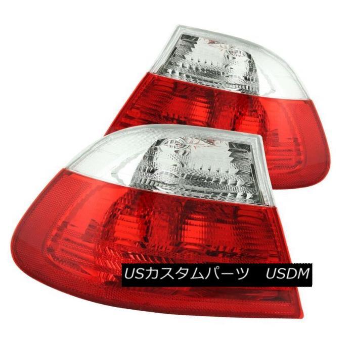 テールライト ANZO 221217 Set of 2 Red/Clear Lens Tail Lights for BMW 3-Series/M3 2-Door ANZO 221217 BMW 3シリーズ/ M3 2ドア用レッド/クリアレンズテールライト2個セット