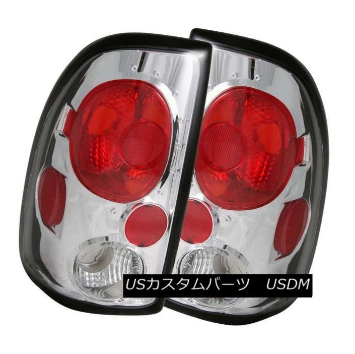 テールライト ANZO 211040 Set of 2 Chrome Tail Lights for 1997-2004 Dodge Dakota ANZO 211040 1997年?2004年の2つのクロームテールライトのセットDodge Dakota