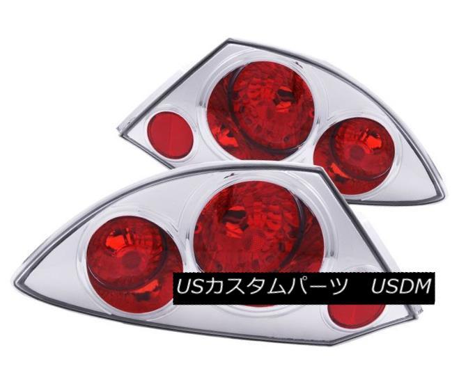 テールライト ANZO 221080 Set of 2 Chrome Tail Lights for 2000-2005 Mitsubishi Eclipse ANZO 221080 2000年?2005年の2つのクロームテールライトのセットMitsubishi Eclipse