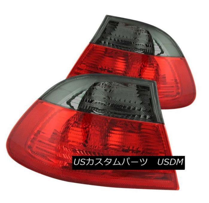 テールライト ANZO 221202 Set of 2 Red/Smoke Lens Tail Lights for BMW 3-Series/M3 2-Door ANZO 221202 BMW 3シリーズ/ M3 2ドア用レッド/スモークレンズテールライト2個セット