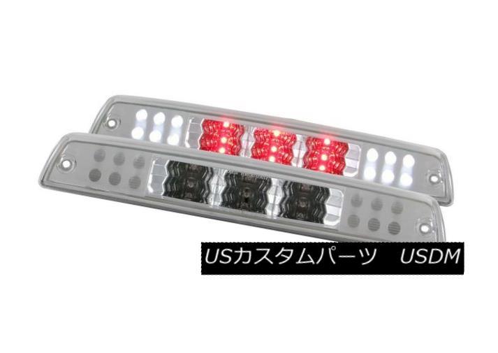 テールライト ANZO 531078 Set of 2 Chrome LED 3rd Brake Lights for Dodge Ram 1500/2500/3500 ANZO 531078ダッジラム1500/2500/3500用の2個のクロームLED第3ブレーキライトのセット