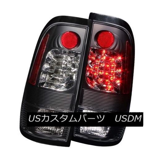 テールライト ANZO 311027 Black LED Tail Lights for Ford F-150, F-250, F350 (Set of 2) ANZO 311027フォードF-150、F-250、F350用ブラックLEDテールライト(2個セット)
