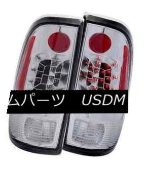 テールライト ANZO 311026 Set of 2 Chrome LED Tail Lights for Ford F-150/F-250/F-350 ANZO 311026フォードF-150 / F-250 / F- 350用の2つのクロームLEDテールライトのセット