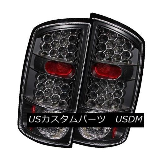 テールライト ANZO 311018 Black LED Tail Lights for Dodge Ram 1500 / 2500 / 3500 (Set of 2) ANZO 311018ダッジ・ラム1500/2500/3500用黒色LEDテール・ライト(2個入り)