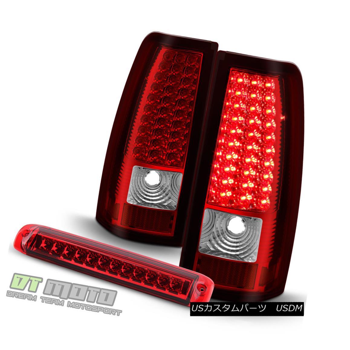 テールライト 2003-2006 Chevy Silverado 1500 Red LED Tail Lights+Full LED 3rd Brake Cargo Lamp 2003-2006シボレーシルバラード1500レッドLEDテールライト+フルLED第3ブレーキカーゴランプ