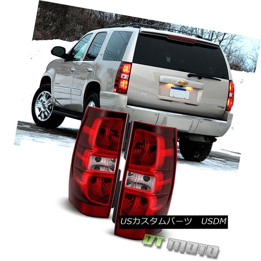 テールライト 2007-2014 Chevy Suburban Tahoe Tail Lights Brake Lamps Replacement Left+Right 2007年から2014年シボレー郊外のタホテールライトブレーキランプの交換左+右