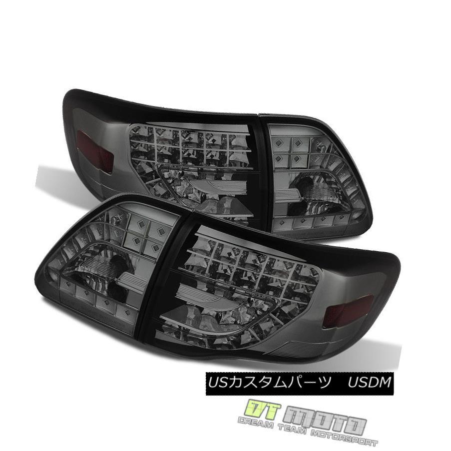 テールライト Fits Smoke 09-10 Corolla Lumileds Perform Tail Lights w/Led Signal Lamps 4 Piece 10-10 Corolla Lumiledsがシグナルランプ4個付きテールライトを実行する