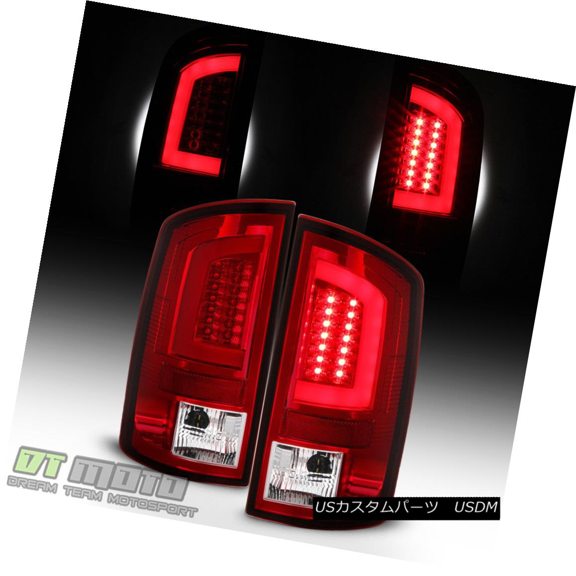 テールライト [LED Tube Design] Red 2007-2008 Dodge Ram 1500 2500 3500 Tail Lights Brake Lamps [LEDチューブ設計] Red 2007-2008 Dodge Ram 1500 2500 3500テールライトブレーキランプ