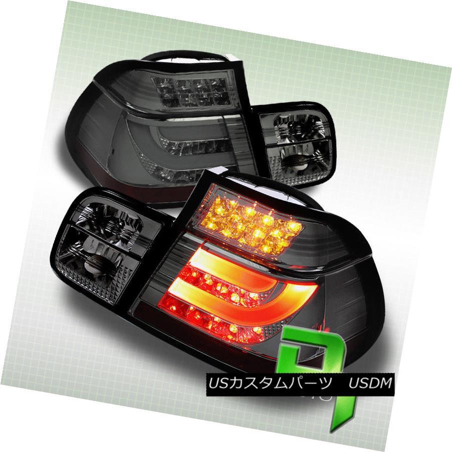 テールライト Smoked 99-01 Bmw E46 3-Series 4Dr Philips-Led Perform Tail Lights w/Led Strip スモーク99-01 Bmw E46 3シリーズ4Dr Philips-Led Ledストリップ付きテールライトを実行
