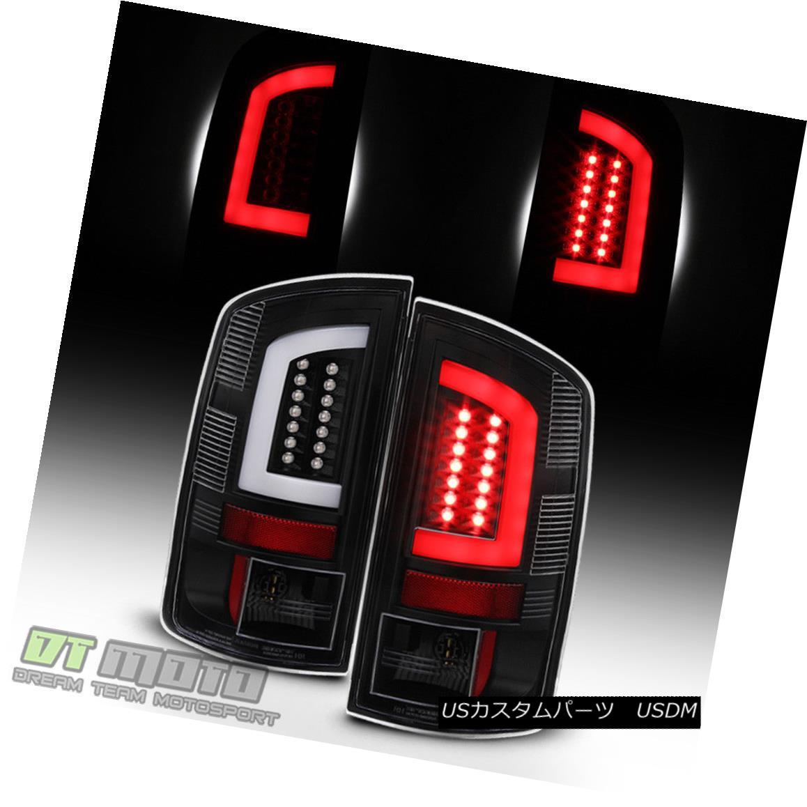 テールライト Black 2007-2008 Dodge Ram 1500 07-09 Ram 2500 3500 [LED Tube] Tail Lights Lamps ブラック2007-2008ダッジラム1500 07-09ラム2500 3500 [LEDチューブ]テールライトランプ