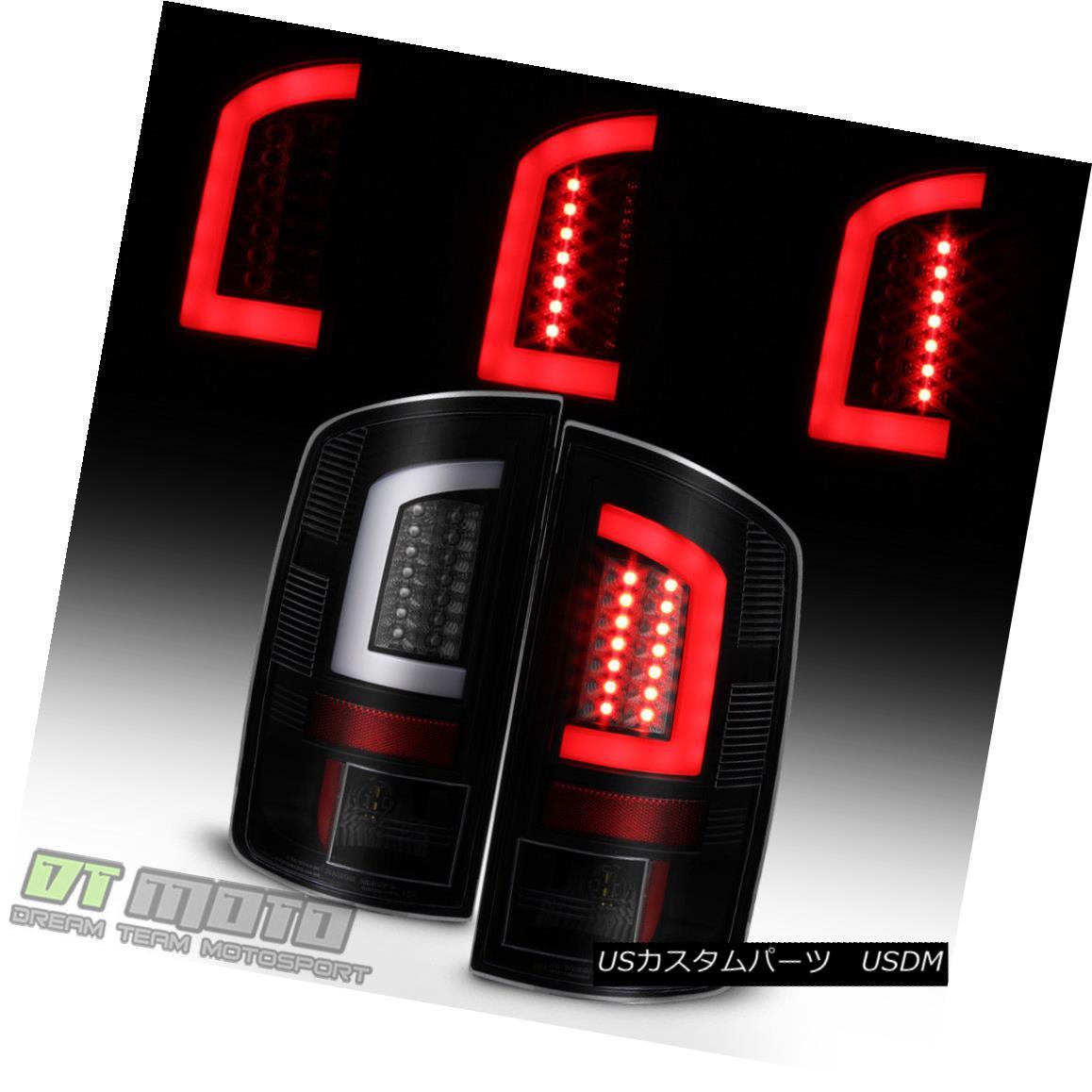 テールライト Black Smoek 2002-2006 Dodge Ram 1500 03-06 2500 3500 LED Tube Tail Lights Lamps ブラックスモーク2002-2006ダッジラム1500 03-06 2500 3500 LEDチューブテールライトランプ
