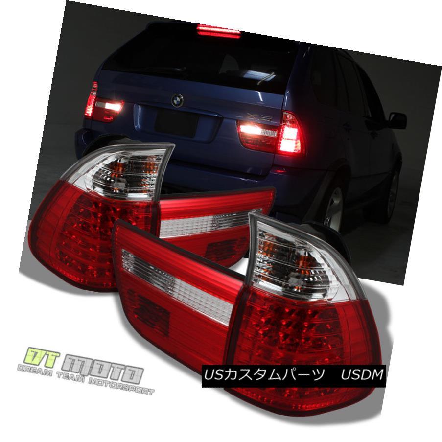 テールライト 2000-2006 BMW X5 E53 Lumileds LED Red Clear Tail Lights Brake Lamps Left+Right 2000-2006 BMW X5 E53 Lumileds LEDレッドクリアテールライトブレーキランプ左+右