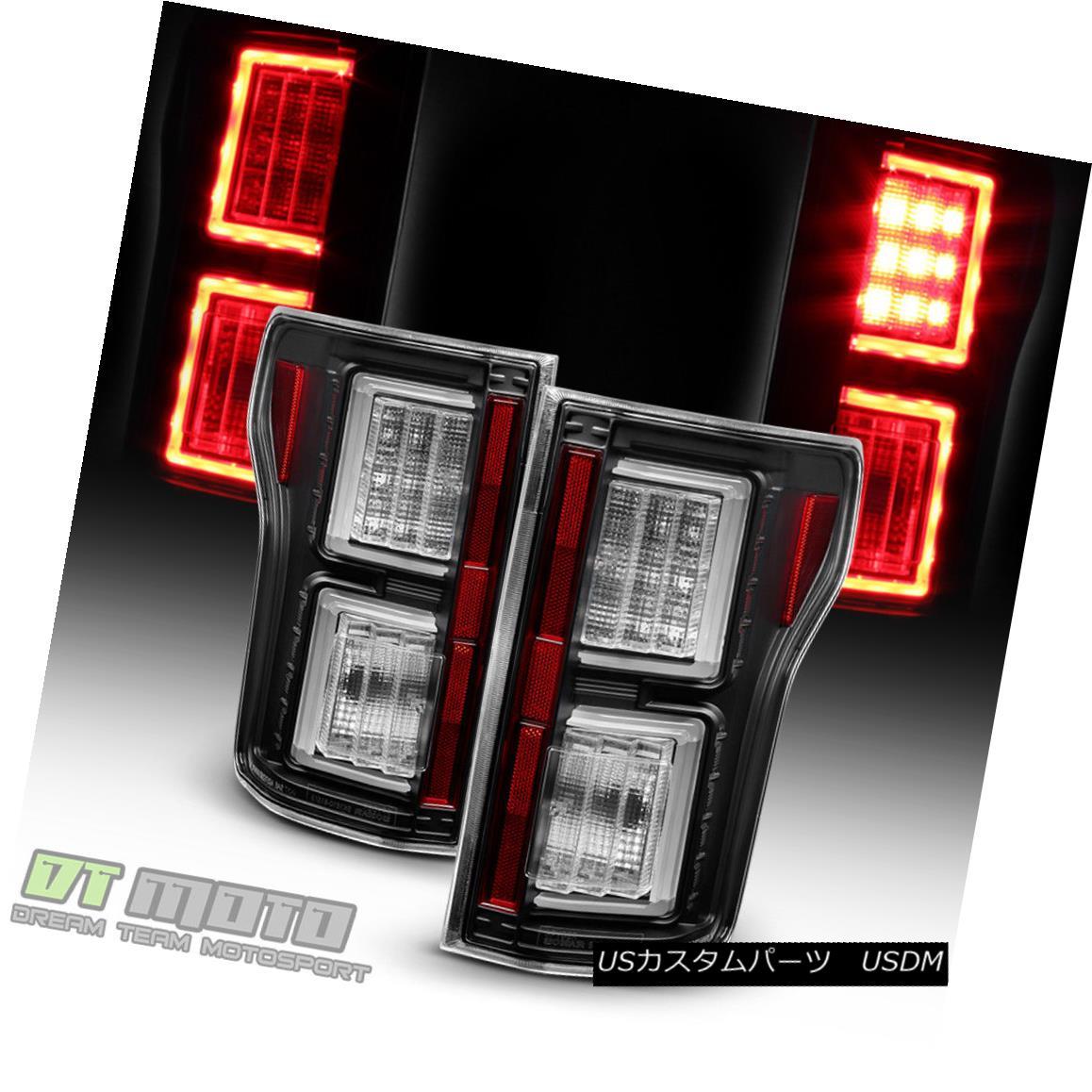 テールライト Black 2015 2016 2017 Ford F150 LED Light Bar Tail Lights Brake Lamps Left+Right ブラック2015 2016 2017フォードF150 LEDライトバーテールライトブレーキランプ左+右