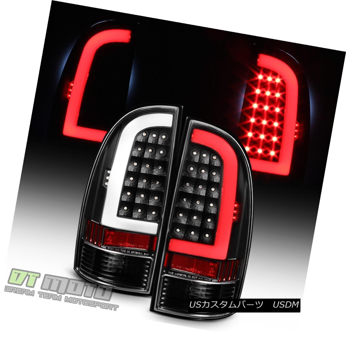 テールライト Blk [Light Bar Design] 2005-2015 Toyota Tacoma LED Tail Lights Brake Lamps 05-15 Blk [Light Bar Design] 2005-2015 Toyota Tacoma LEDテールライトブレーキランプ05-15