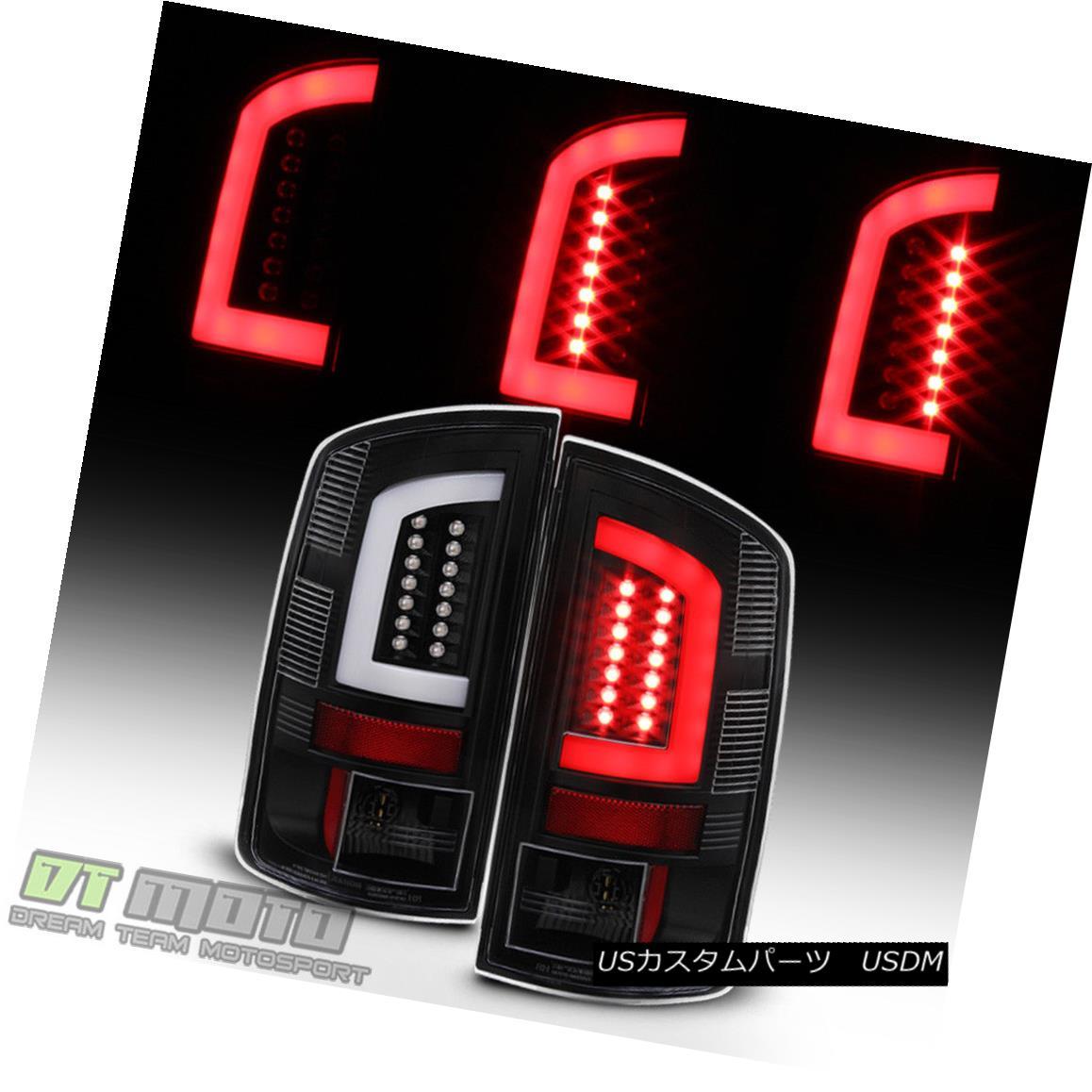 テールライト Black 2002-2006 Dodge Ram 1500 03-06 Ram 2500 3500 [LED Tube] Tail Lights Lamps 黒2002-2006 Dodge Ram 1500 03-06 Ram 2500 3500 [LED Tube]テールライトランプ