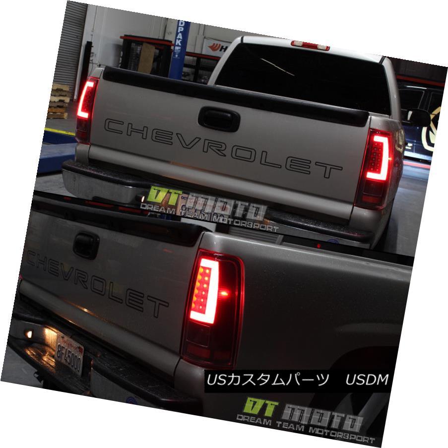テールライト Black 2003-2006 Chevy Silverado 1500 LED [Light Bar] Tail Lights Lamp Set 03-06 ブラック2003-2006シボレーシルバラード1500 LED [ライトバー]テールライトランプセット03-06