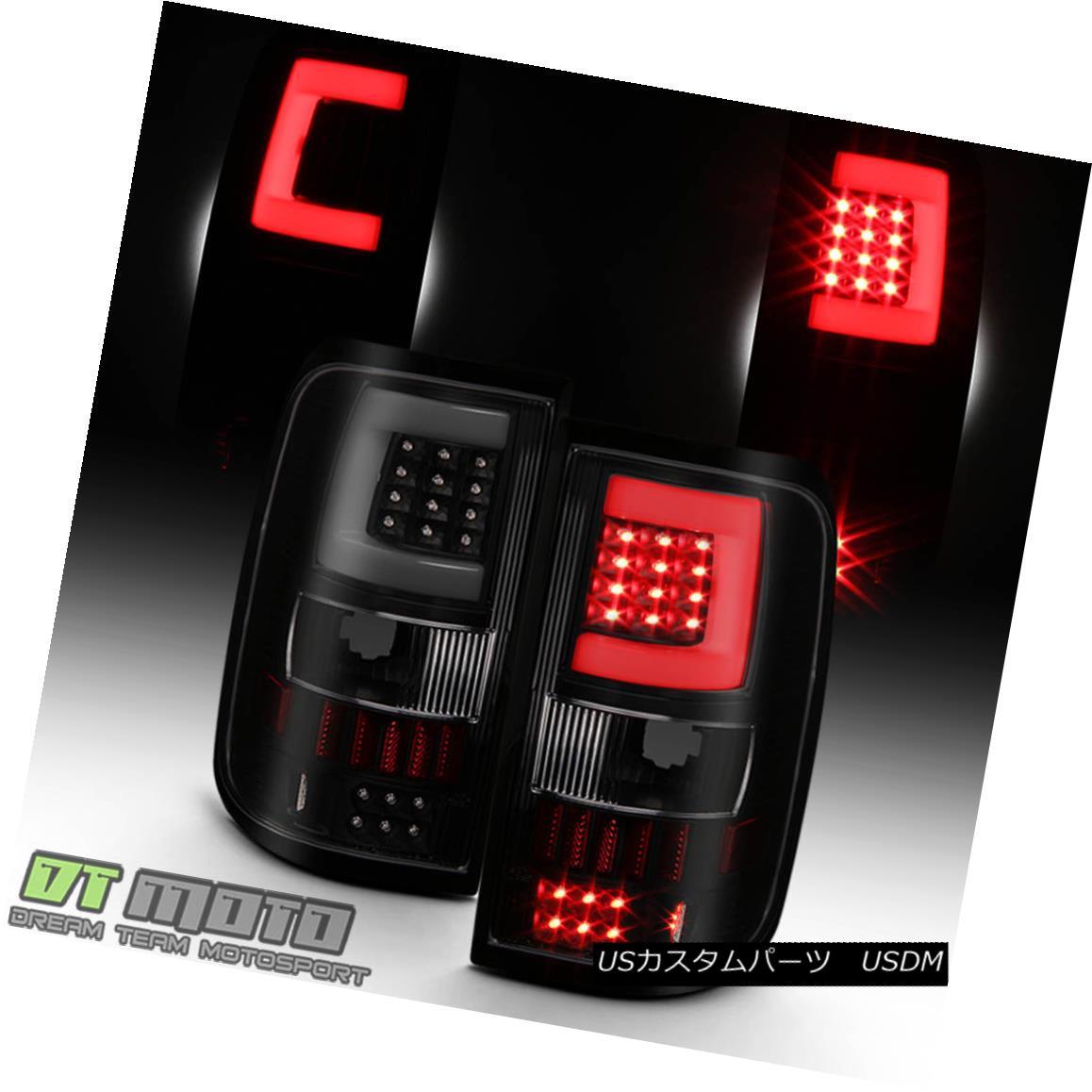 テールライト Black Smoke 2004 2005 2006 2007 2008 Ford F150 Pickup LED Tube Tail Lights Lamps ブラックスモーク2004 2005 2006 2007 2008フォードF150ピックアップLEDチューブテールライトランプ