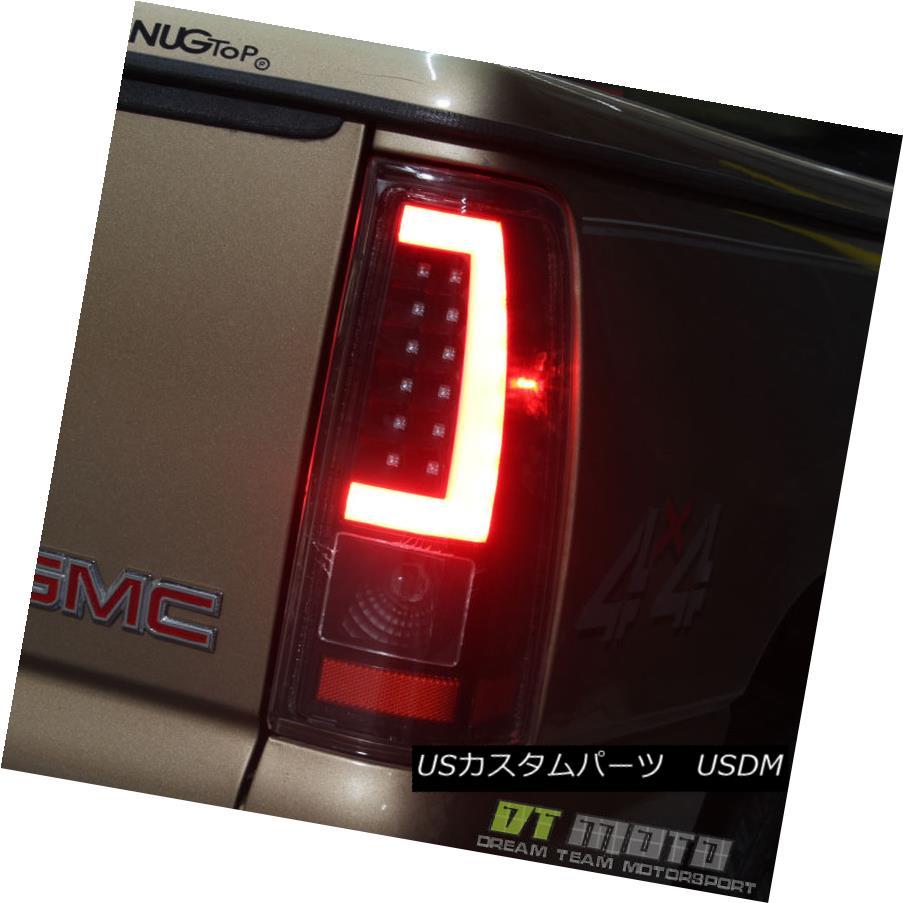 テールライト Black 1999-2002 Chevy Silverado 1500 99-06 GMC Sierra LED Tube Tail Lights Lamps ブラック1999-2002シボレーシルバラード1500 99-06 GMC Sierra LEDチューブテールライトランプ