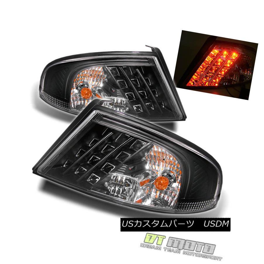 テールライト Black 01-06 Dodge Stratus 4Dr Philips-Led Perform Tail Lights Lamps Left+Right 黒01-06 Dodge Stratus 4Dr Philips-Ledテールライトランプ左+右