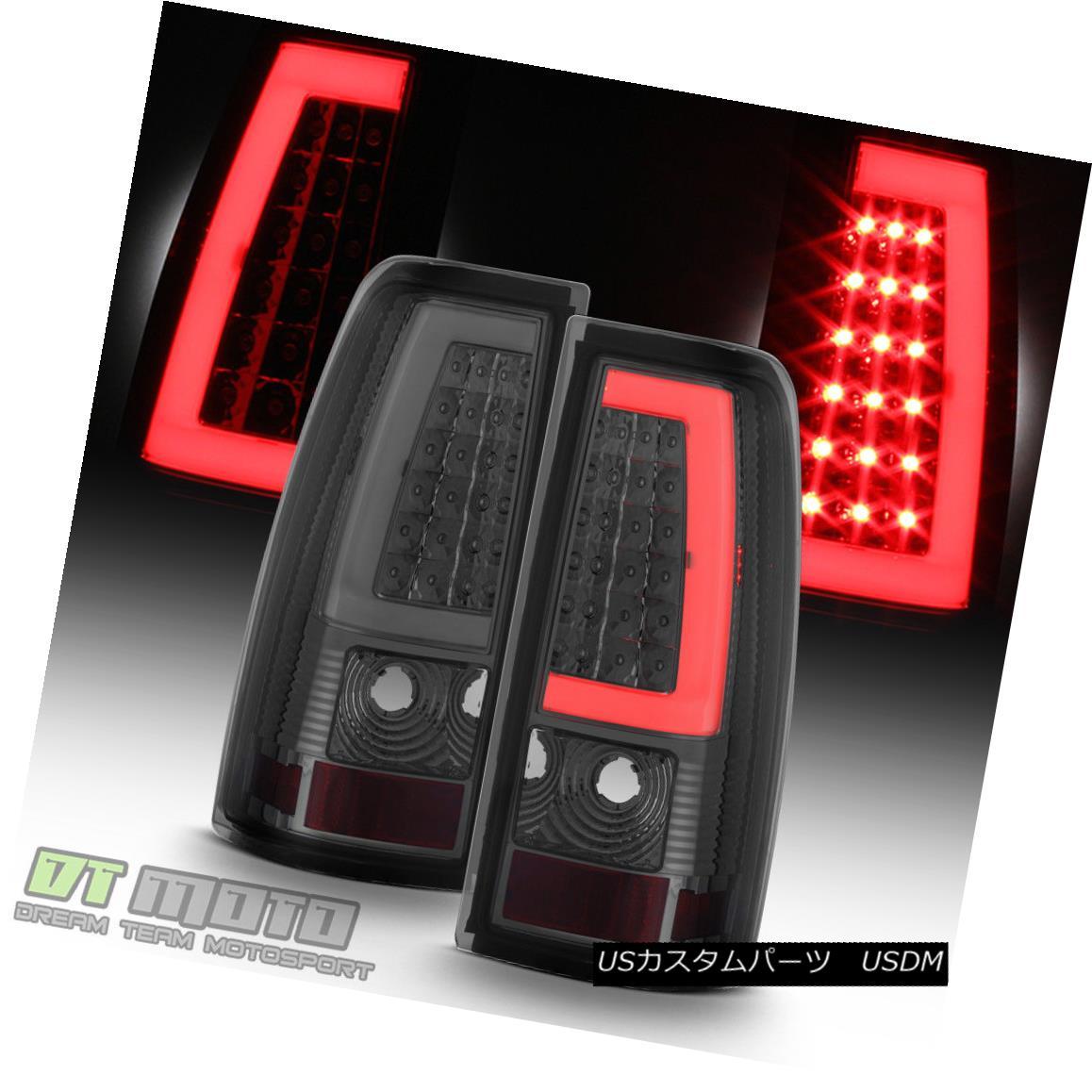 テールライト Smoke 1999-2006 GMC Sierra 1500 99-02 Chevy Siverado LED Tube Tail Lights Lamps 煙1999-2006 GMC Sierra 1500 99-02シボレーシルバラードLEDチューブテールライトランプ