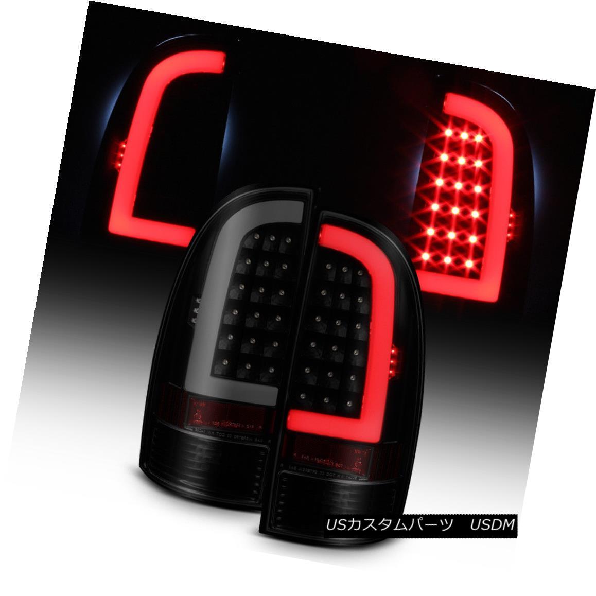 テールライト Black Smoke 2005-2015 Toyota Tacoma LED Tube Tail Lights Lamps 05-15 Left+Right ブラックスモーク2005-2015トヨタタコマLEDテールライトランプ05-15左+右