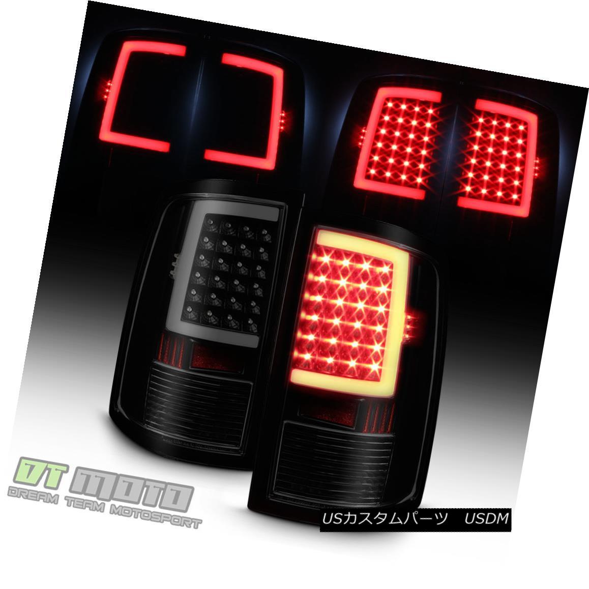 テールライト Black Smoke 2009-2017 Dodge Ram 1500 10-17 2500 3500 LED Tube Tail Lights Lamps ブラックスモーク2009-2017ダッジラム1500 10-17 2500 3500 LEDチューブテールライトランプ