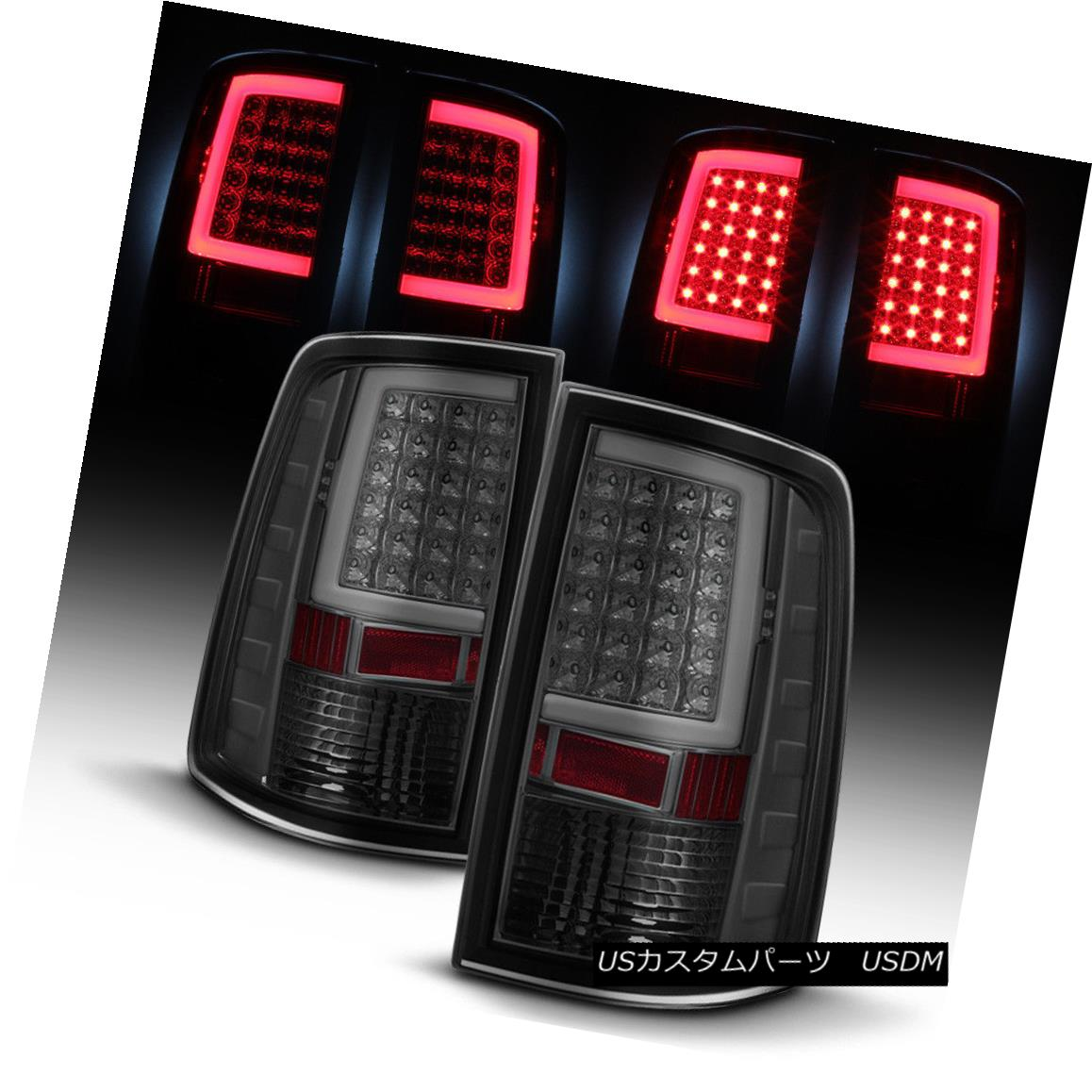 テールライト Smoked 2009-2017 Dodge Ram 1500 10-17 2500 3500 LED Tube Tail Lights Brake Lamps スモーク2009-2017ダッジラム1500 10-17 2500 3500 LEDチューブテールライトブレーキランプ