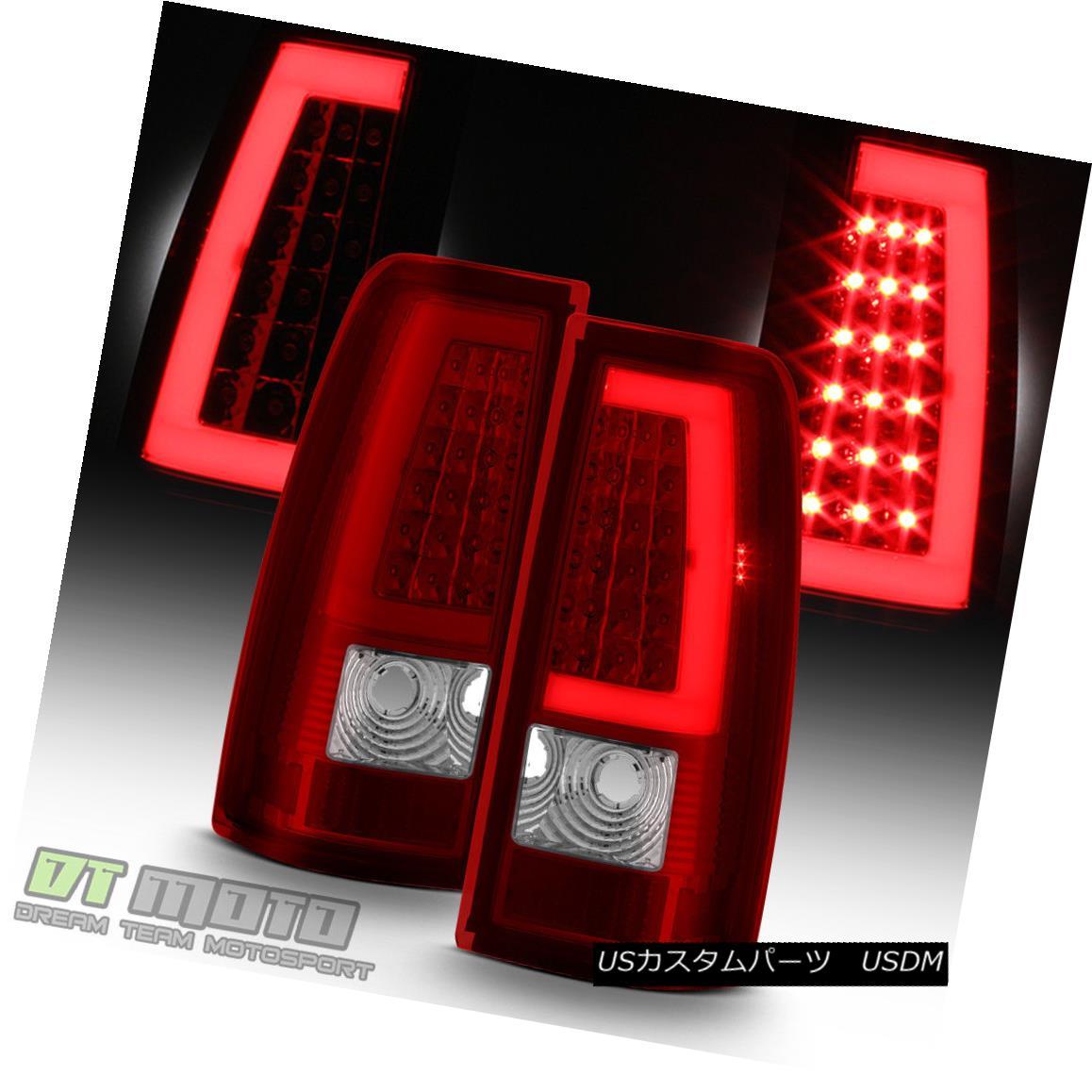 テールライト 1999-2006 GMC Sierra 1500 99-02 Chevy Siverado Red LED Tube Tail Lights Lamps 1999-2006 GMC Sierra 1500 99-02シボレーシルバラードレッドLEDチューブテールライトランプ