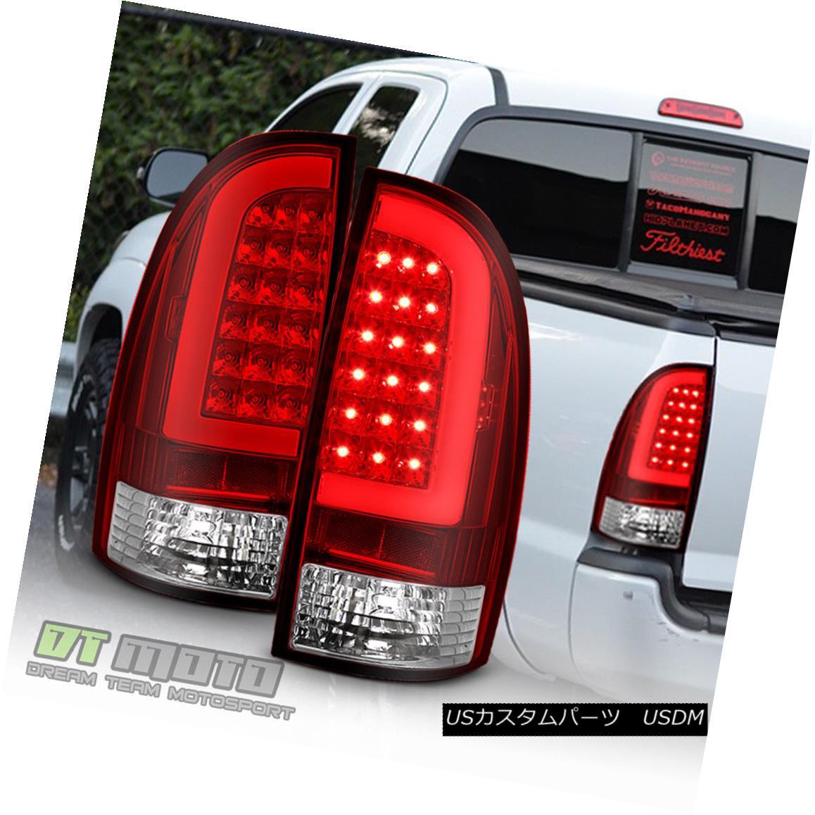 テールライト 2005-2015 Toyota Tacoma LED Tube Tail Lights Lamps 05-15 Taillight Left+Right 2005-2015 Toyota Tacoma LEDチューブテールライトランプ05-15テールライト左+右