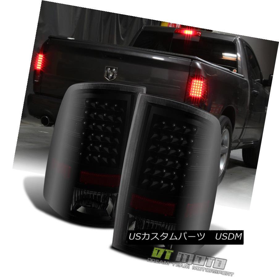 テールライト Black Smoke 2009-2017 Dodge Ram 1500 2010-2017 2500/3500 LED Tail Lights Lamps ブラックスモーク2009-2017ダッジラム1500 2010-2017 2500/3500 LEDテールライトランプ