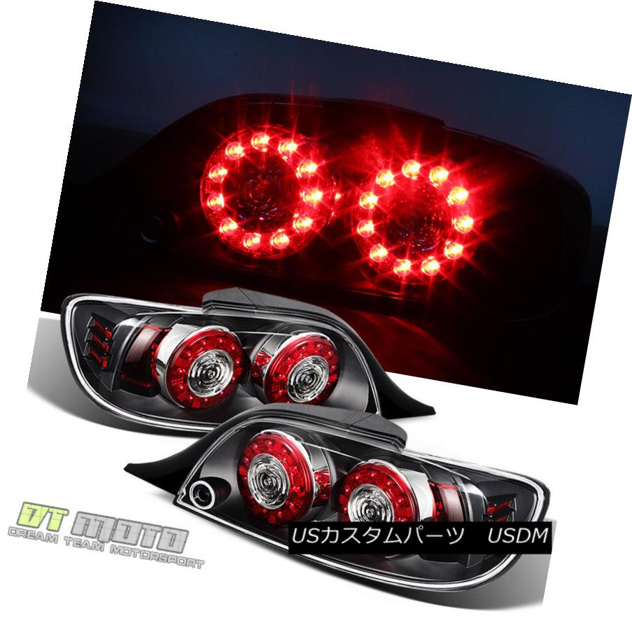 テールライト Black 2004-2008 Mazda RX-8 RX8 LED Tail Lights Rear Brake Lamps 04-08 Left+Right ブラック2004-2008マツダRX-8 RX8 LEDテールライトリアブレーキランプ04-08左+右