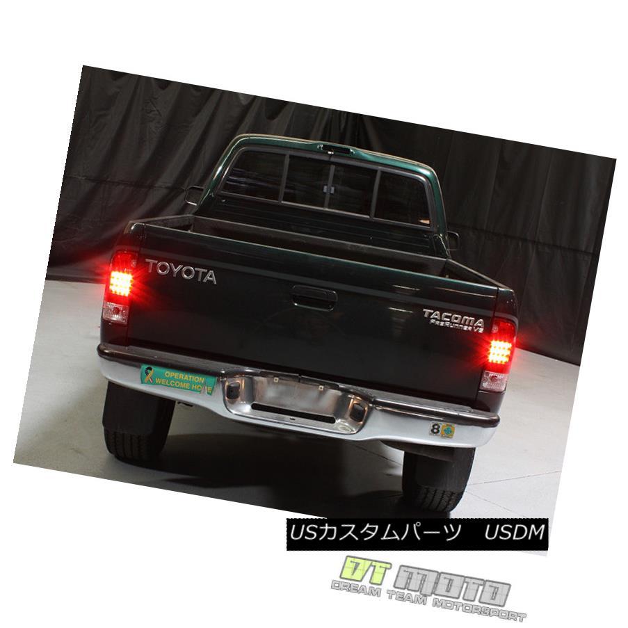 テールライト 1995-2000 Toyota Tacoma Pickup Lumileds LED Red Smoke Tail Lights Set Left+Right 1995-2000トヨタタコマピックアップLumileds LEDレッド煙テールライト左+右セット