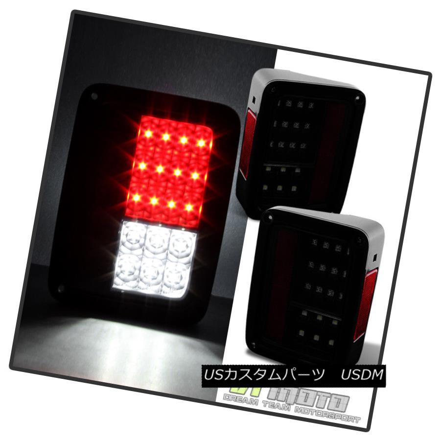 テールライト Black Smoked Smoked 2007-2017 Jeep Wrangler Full Lumileds Wrangler LED LED Tail Lights Brake Lamps ブラックスモーク2007-2017ジープラングラーフルルミルズLEDテールライトブレーキランプ, ショップネフト:698b4f27 --- officewill.xsrv.jp