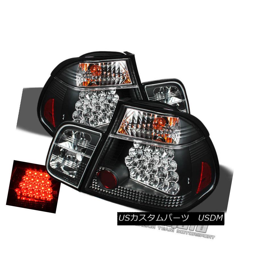 テールライト Black 99-01 Bmw E46 3-Series 4Dr Philips-Led Perform Tail Lights Left+Right 黒99-01 Bmw E46 3シリーズ4Dr Philips-Led左右のテールライトを実行
