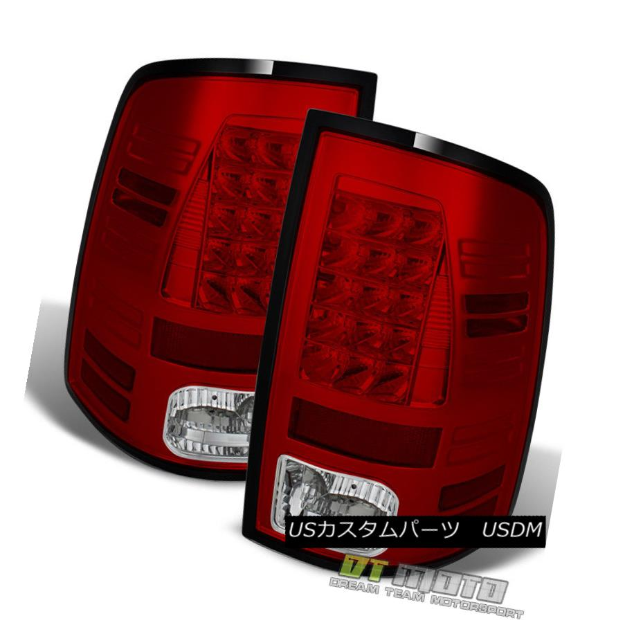 テールライト Red Clear 2013-2017 Ram Philips Lumileds LED Tail Lights Lamps Left+Right 13-17 Red Clear 2013-2017 Ram Philips Lumileds LEDテールライトランプLeft + Right 13-17