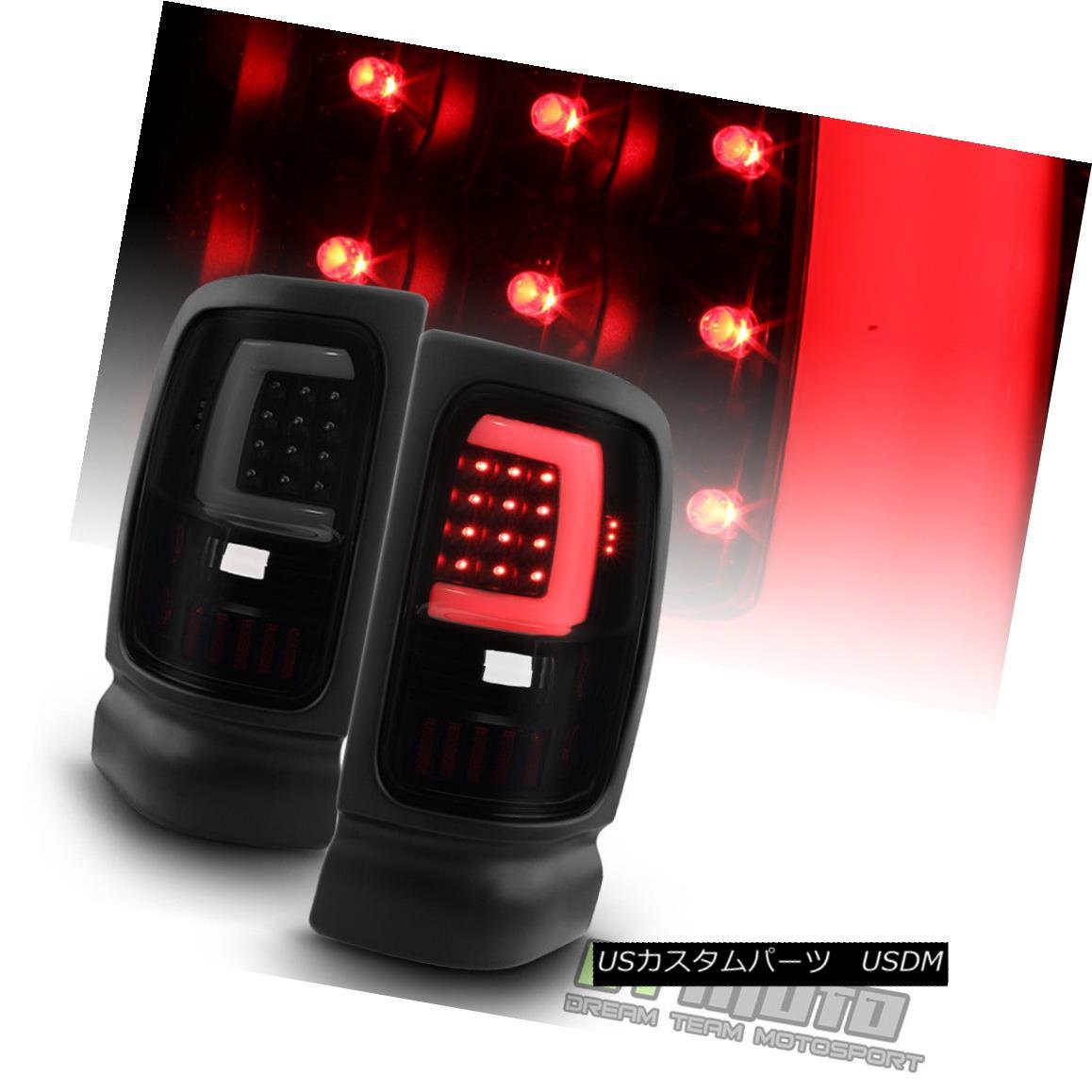 テールライト Black Smoke 1994-2001 Dodge Ram 1500 2500 3500 LED Tube Tail Lights Brake Lamps ブラックスモーク1994-2001ドッジラム1500 2500 3500 LEDチューブテールライトブレーキランプ