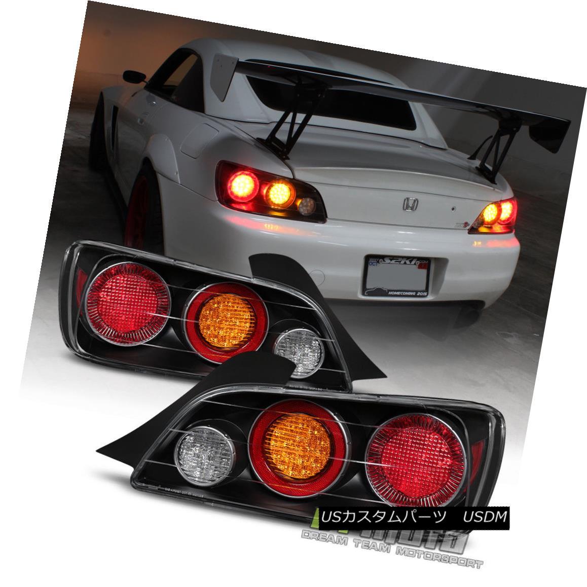 テールライト For Black 2004-2009 Honda S2000 AP2 FULL LED Tail Lights Lamps 04-09 Left+Right ブラック2004-2009ホンダS2000 AP2フルLEDテールライトランプ04-09左+右