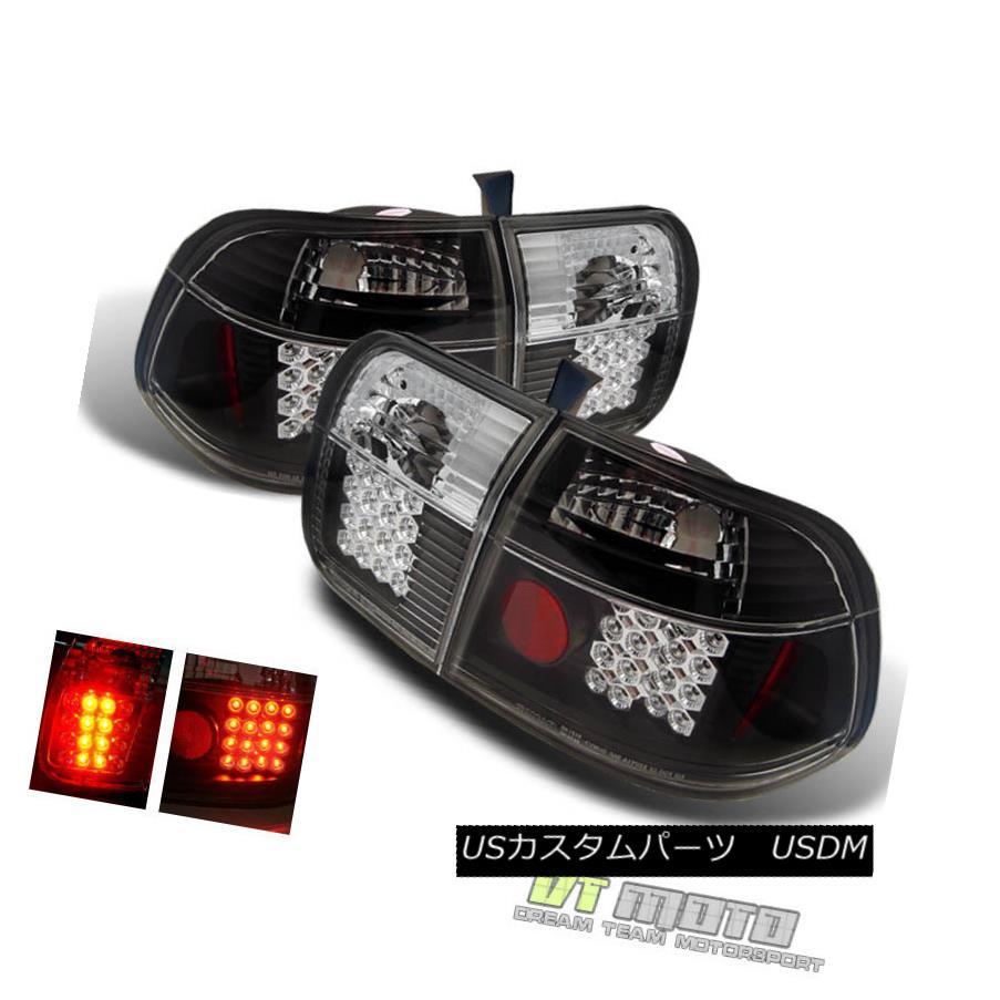 テールライト For Black 1996-1998 Honda Civic Sedan Lumileds LED Tail Lights Lamps Left+Right ブラック1996-1998 Honda Civic Sedan Lumileds LEDテールライトランプ左+右