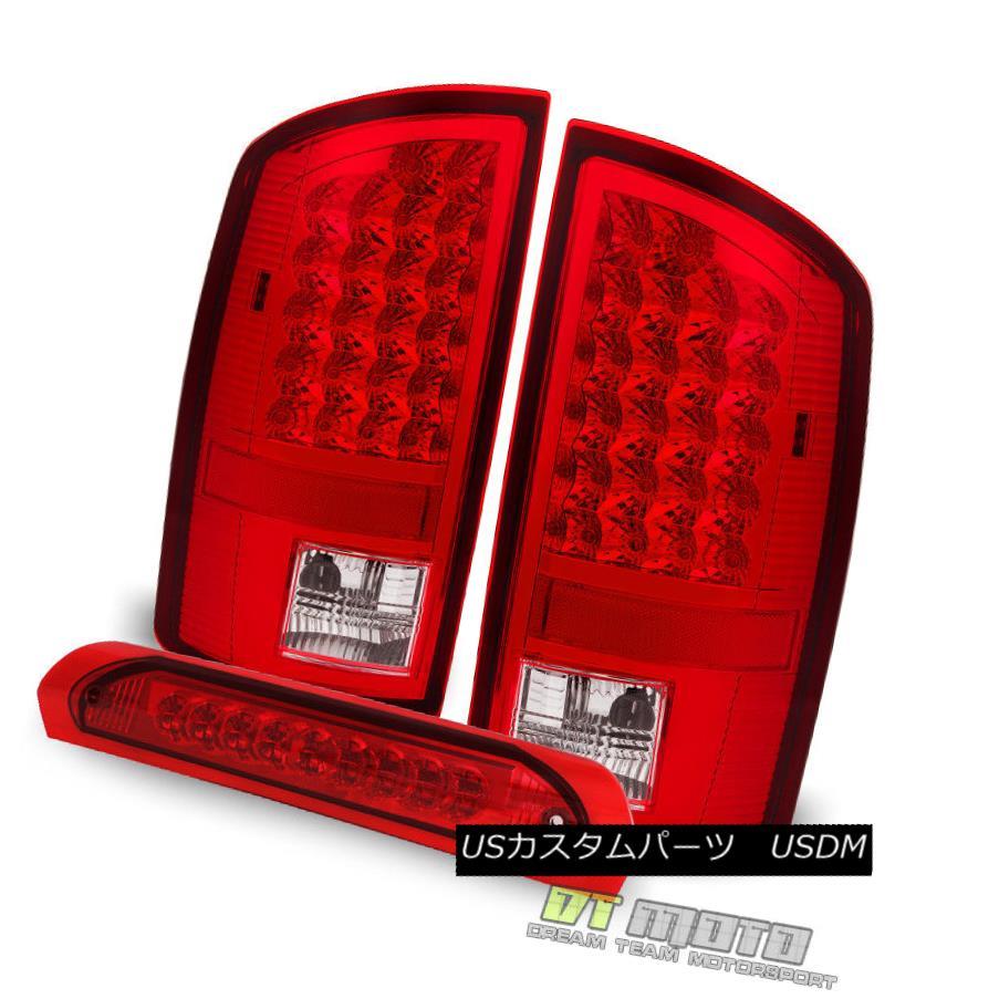 テールライト Red 2007-2008 Dodge Ram 1500/07-09 2500 3500 LED Tail Lights+LED 3rd Brake Lamp 赤2007-2008 Dodge Ram 1500 / 07-09 2500 3500 LEDテールライト+ LED第3ブレーキランプ