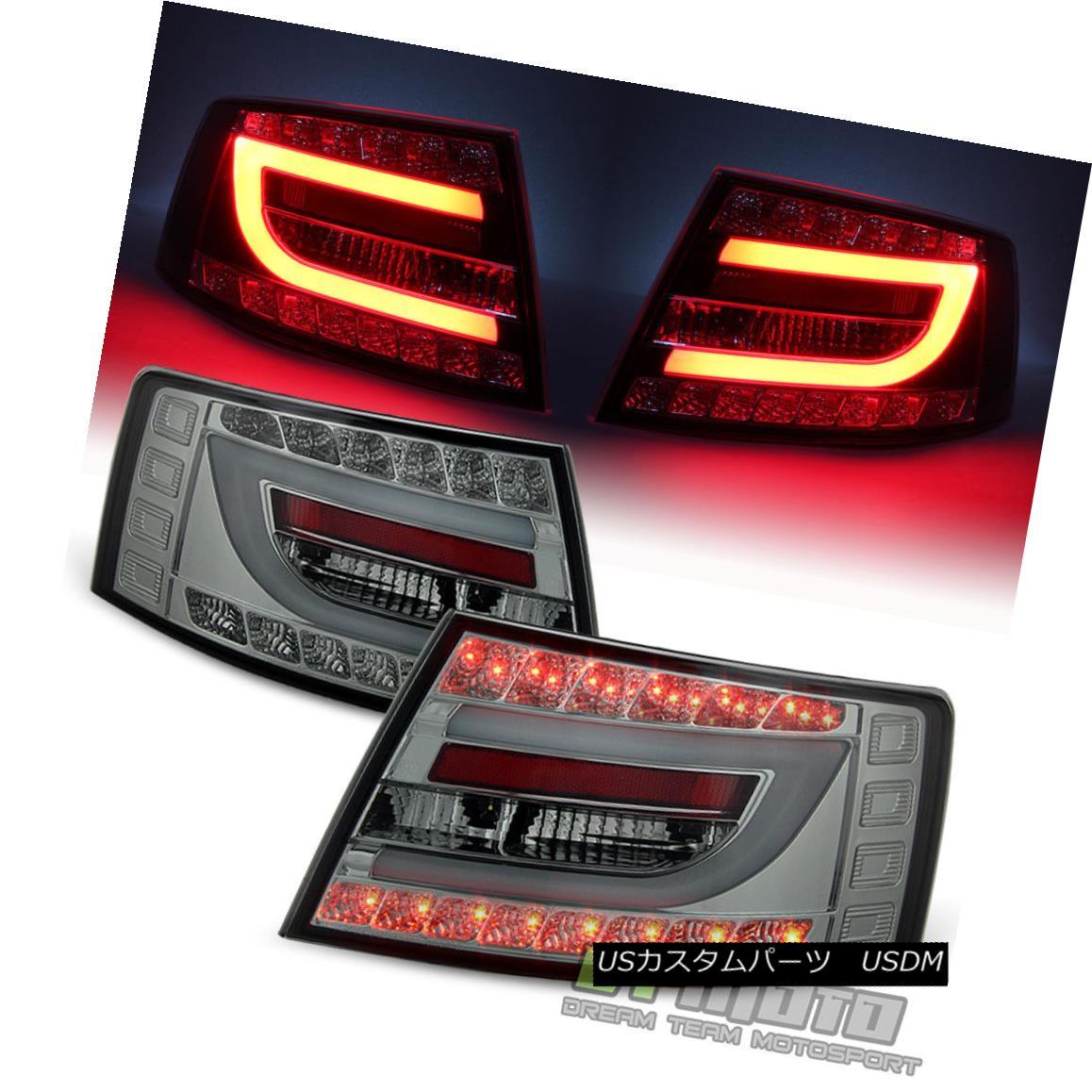 テールライト Smoked 2005-2008 Audi A6 S6 C6 Philips Lumileds LED Tail Lights Lamps Left+Right スモーク2005-2008 Audi A6 S6 C6 Philips Lumileds LEDテールライトランプ左+右