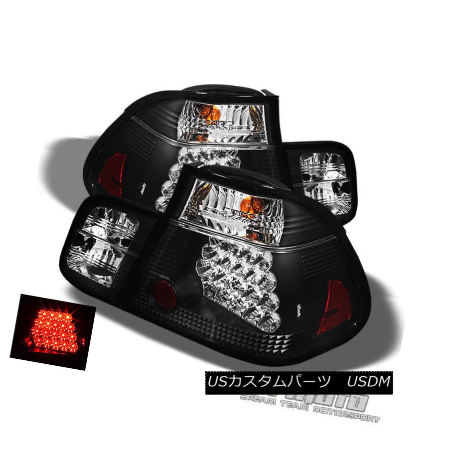 テールライト Black 02-05 Bmw E46 3-Series Sedan Philips-Led Perform Tail Lights Left+Right 黒02-05 Bmw E46 3シリーズセダンPhilips-Led左右のテールライトを演出