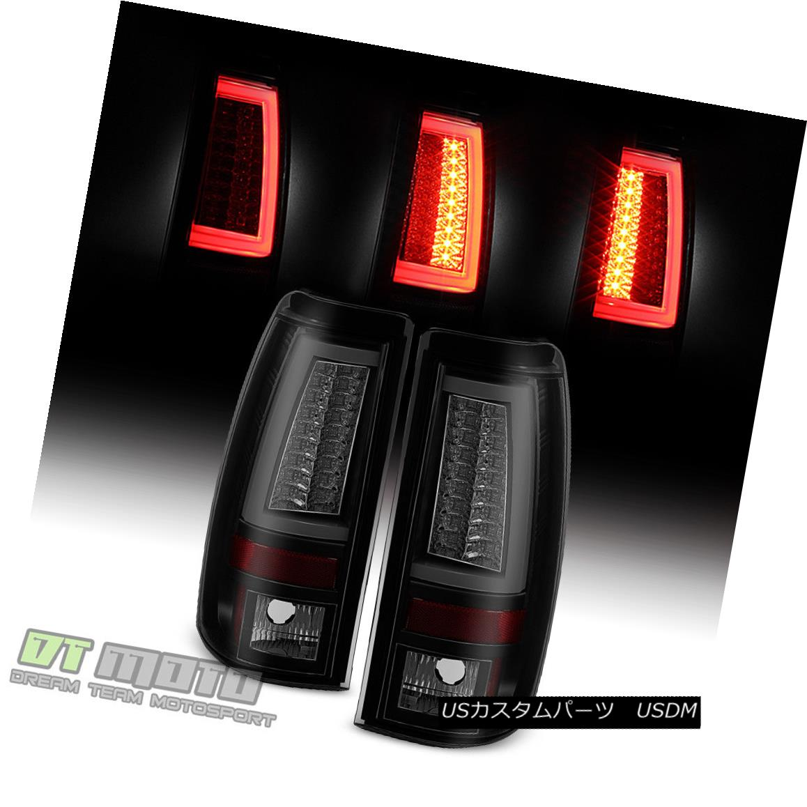 テールライト 2003-2006 Chevy Silverado 1500-2500HD-3500 LED Pyro Tube Tail Lights Black Smoke 2003-2006 Chevy Silverado 1500-2500HD-35 00 LEDパイロチューブテールライトブラックスモーク