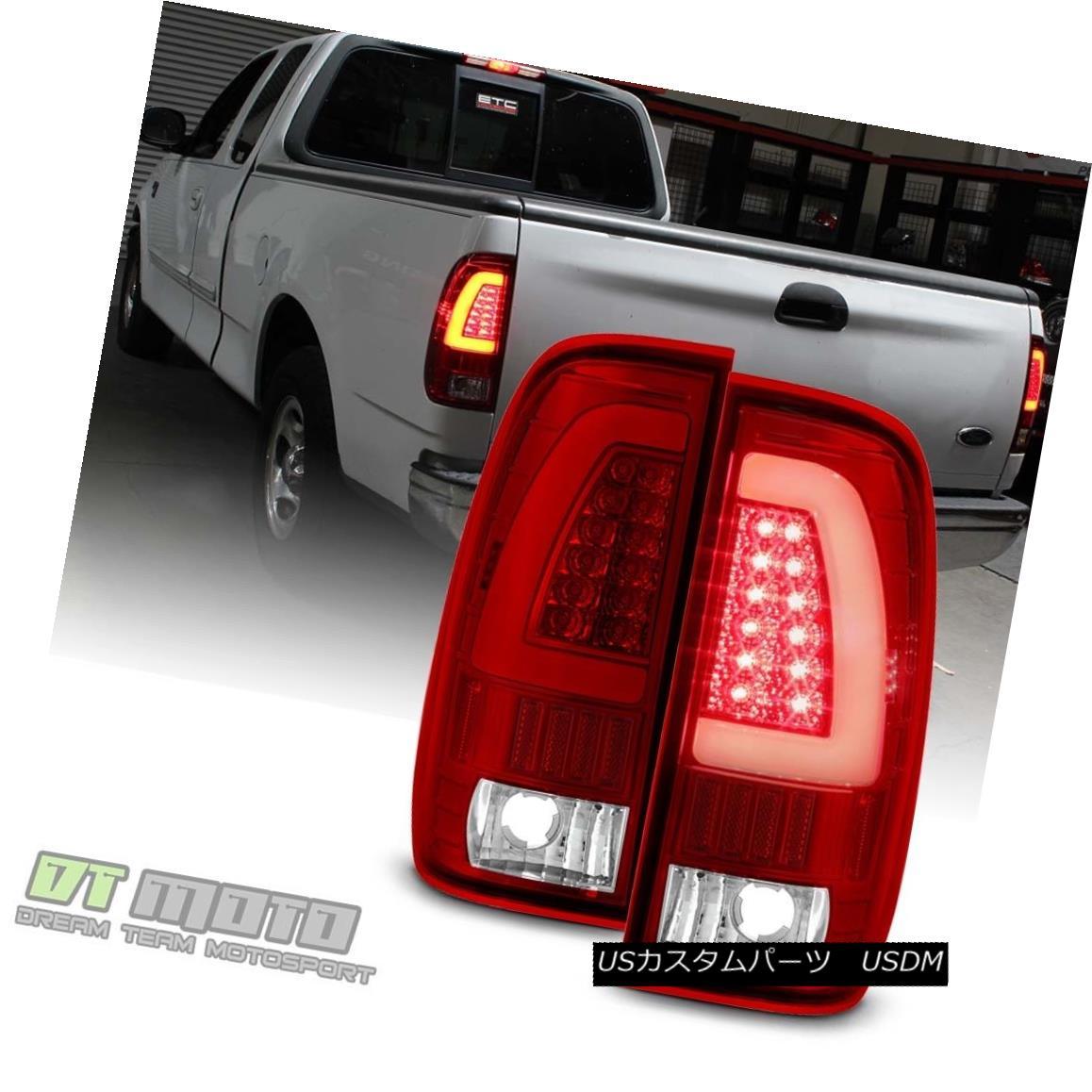 テールライト 1997-2003 Ford F-150 1999-2007 F-250 F-350 Red LED Light Tube Tail Lights Lamps 1997-2003フォードF-150 1999-2007 F-250 F-350赤色LEDライトチューブテールライトランプ