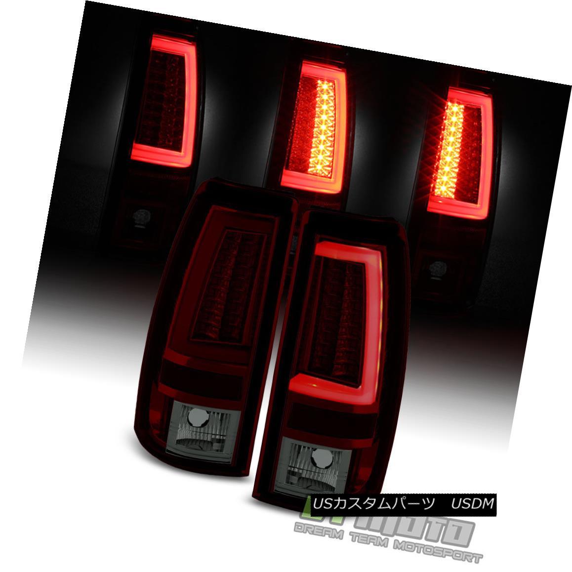 テールライト 2003 2004 2005 2006 Chevy Silverado Red Smoke LED Tube Tail Lights Brake Lamps 2003年2004年2005年2006年Chevy Silveradoレッド煙LEDテールライトブレーキランプ
