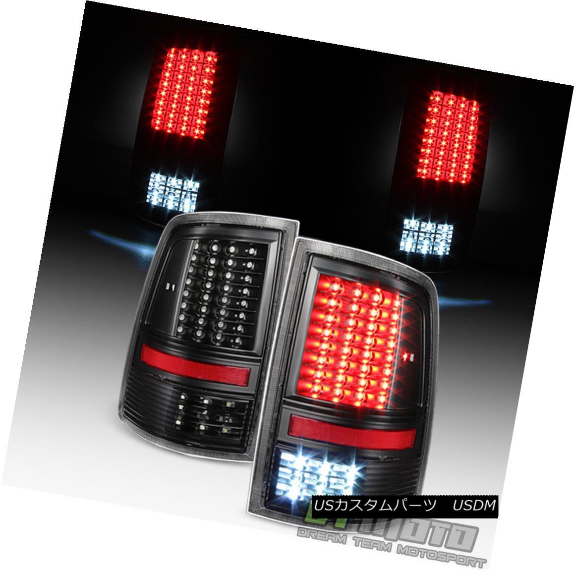 テールライト Black 2009-2017 Dodge Ram 1500 10-17 2500 3500 Full LED Tail Lights Brake Lamps ブラック2009-2017 Dodge Ram 1500 10-17 2500 3500フルLEDテールライトブレーキランプ