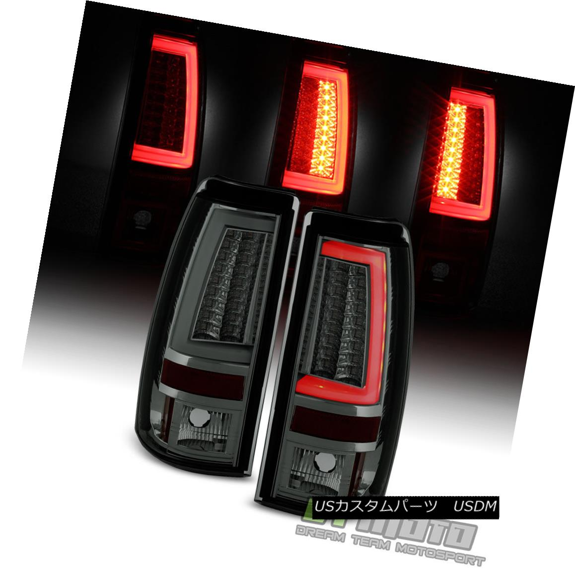テールライト Smoke 1999-2002 Chevy Silverado 1500 99-06 GMC Sierra LED Tube Tail Lights Lamps Smoke 1999-2002 Chevy Silverado 1500 99-06 GMC Sierra LEDチューブテールライトランプ