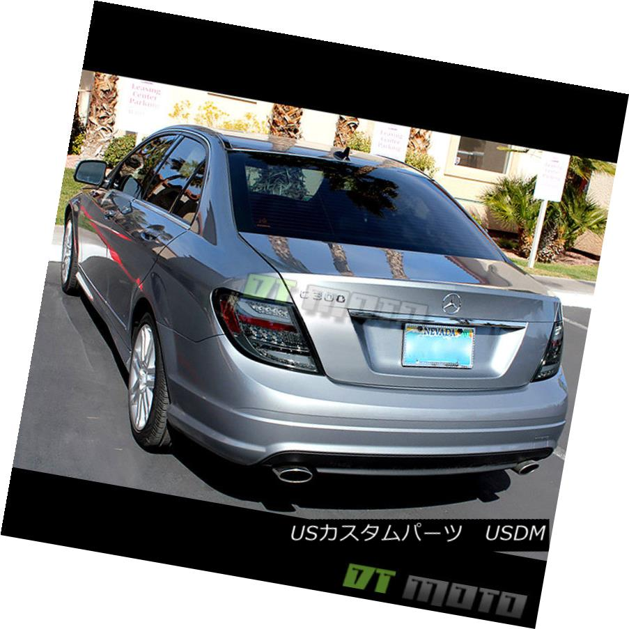 テールライト Smoked 2008-2010 Mercedes W204 C-Class LED Tail Lights Brake Lamps Left+Right スモーク2008-2010メルセデスW204 CクラスLEDテールライトブレーキランプ左+右